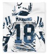 Peyton Manning Indianapolis Colts Pixel Art Fleece Blanket