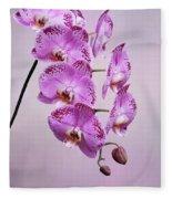 Phalaenopsis Lianher Happy Dancer Fleece Blanket