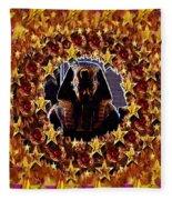 Pharaoh In The Starry Night Fleece Blanket