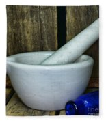 Pharmacy - Mortar And Pestle - Square Fleece Blanket