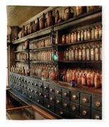 Pharmacy - So Many Drawers And Bottles Fleece Blanket