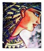 Pharoah Of Egypt Fleece Blanket