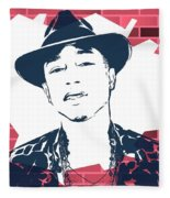 Pharrell Graffiti Tribute Fleece Blanket
