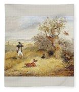 Pheasant Shooting Henry Thomas Alken Fleece Blanket