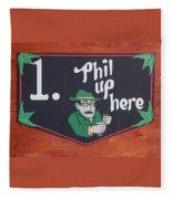Phil Up Here Fleece Blanket