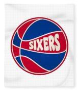 Philadelphia 76ers Retro Shirt Fleece Blanket
