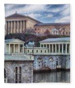 Philadelphia Art Museum At The Water Works  Fleece Blanket
