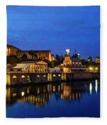 Philadelphia Art Museum - City Lights Fleece Blanket