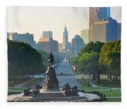 Philadelphia Benjamin Franklin Parkway Fleece Blanket