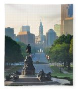 Philadelphia Benjamin Franklin Parkway Fleece Blanket