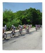 Philadelphia Bike Race - Manayunk Avenue Fleece Blanket