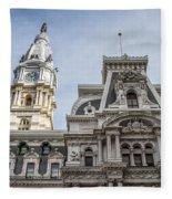 Philadelphia City Hall #2 Fleece Blanket