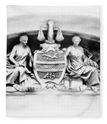 Philadelphia City Hall Fresco Fleece Blanket
