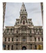 Philadelphia City Hall Fleece Blanket