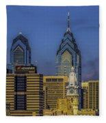 Philadelphia City Hall Skyline Fleece Blanket