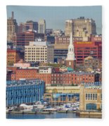 Philadelphia - From The Ben Franklin Bridge Fleece Blanket