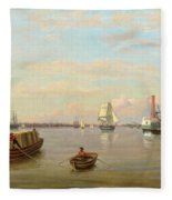 Philadelphia Harbor Fleece Blanket
