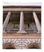 Philadelphia Library Pillars Fleece Blanket