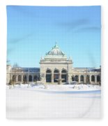 Philadelphia - Memorail Hall In Winter Fleece Blanket