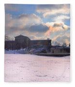 Philadelphia Museum Of Art At Winter Sunrise Fleece Blanket