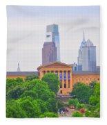 Philadelphia Museum Of Art From Lemon Hill Fleece Blanket