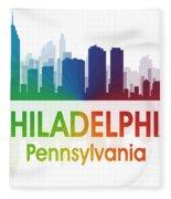 Philadelphia Pa Fleece Blanket