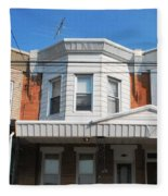 Philadelphia Row Houses Fleece Blanket