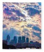Philadelphia Sky Fleece Blanket