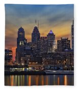 Philadelphia Skyline Fleece Blanket