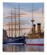 Philadelphia Waterfront Olympia Fleece Blanket
