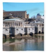 Philadelphia Waterworks And Art Museum Panorama Fleece Blanket