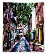 Philadelphia's Elfreth's Alley Fleece Blanket