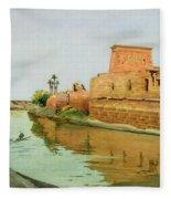 Philae On The Nile Fleece Blanket