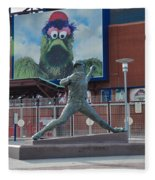Phillies Steve Carlton Statue Fleece Blanket