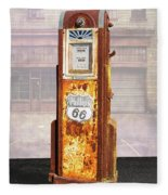 Phillips 66 Antique Gas Pump Fleece Blanket