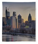 Philly Before Dawn From South Street Fleece Blanket