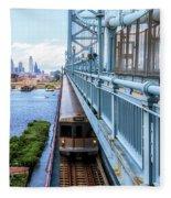 Philly From The Bridge Fleece Blanket