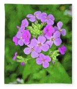 Phlox For You Fleece Blanket