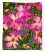 Phlox Fun - Pink Glow Fleece Blanket