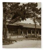 Phoebe A Hearst Social Hall Asilomar Pacific Grove Circa 1925 Fleece Blanket