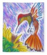 Phoenix Fire Hummingbird Fleece Blanket