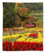 Phoenix In Summer Palace Fleece Blanket