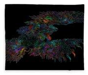 Phoenix Rising Galaxy Fleece Blanket