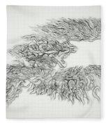Phoenix Rising Sketch Fleece Blanket