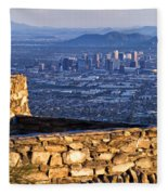 Phoenix Sunrise Fleece Blanket