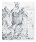 Pholus The Centauras Fleece Blanket
