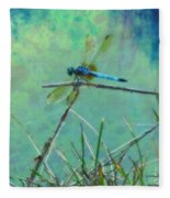 Photo Painted Dragonfly Fleece Blanket