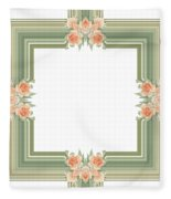 Photoart Orange Flowers-1 Fleece Blanket