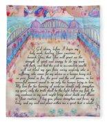 Physician Prayer- English Version Fleece Blanket