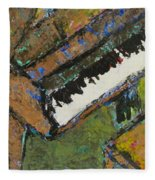 Piano Close Up 1 Fleece Blanket